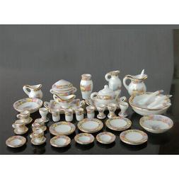 1/12 Dollhouse Miniature Dining Ware Porcelain Tea Set  Dish