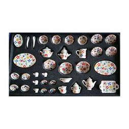 1/12 Tea Set Dollhouse Miniature Dining Ware Porcelain Dish