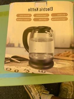 1.7l Electric Kettle Glass Coffee Tea Hot Water Boiler Warm
