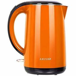 Secura 1.8 Quart Stainless Steel Electric Water Kettle Doubl