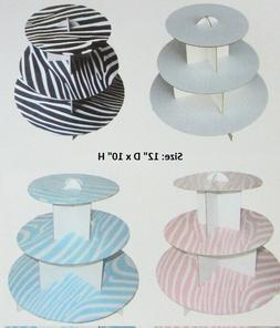 "1 Set Card Paper 12x10"" Cupcake 3 Tiers Cake Stand/Tea Party"