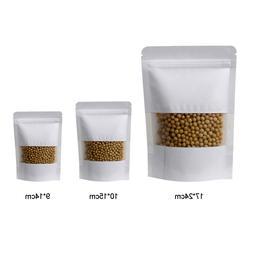 10 pcs/<font><b>set</b></font> White Gift Kraft Paper Bag Zi