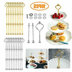 10 Set 3 Tier Cake Plate Stand Handle Wedding Party Afternoo