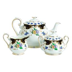 Royal Albert 3 Piece 100 Years 1910 Teapot, Sugar & Creamer