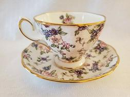 Royal Albert 100 Years 1940 English Chintz Tea Cup & Saucer
