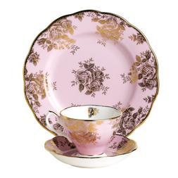 Royal Albert 100 Years of Royal Albert Set, Golden Roses, 3-