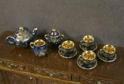 11 PIECE ~ CHINA  PORCELAIN TEA SET ~ Dollhouse ~ England ~1