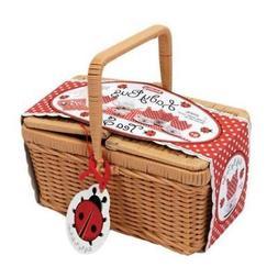117069 ladybug tea set basket