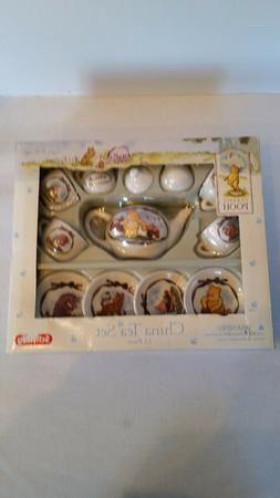 Schylling 12 pc. china child tea set, Classic POOH, new in b