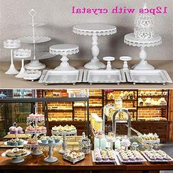 12 Set Metal Crystal Cake Holder Cupcake Stand Cake Dessert