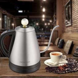 12 Settings 1.2L Electric Gooseneck Kettle with Crystal Lid