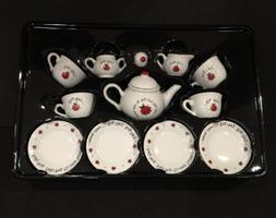 13 Piece Porcelain Lady Bug Tea Set Ages 8and Up By Schyllin