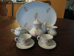 15 pc Tea Set Little Girls Miniature Porcelain Ceramic china