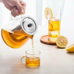 15oz/32oz Glass Teapot Kettle with Removable Infuser Tea Mak
