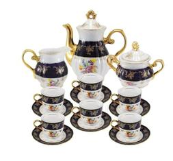 17 pc floral tea set for 6