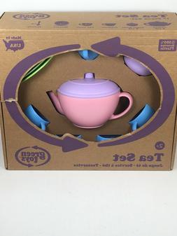 Green Toys 17 Piece Tea Set Kids Pretend Play