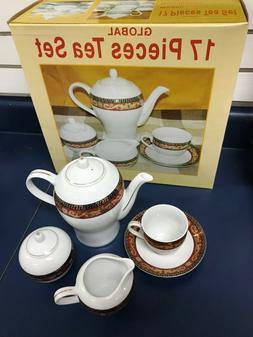 17 Pieces Tea Set