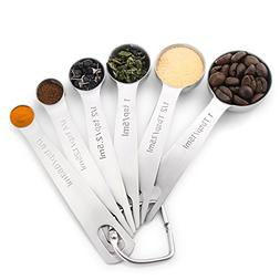 1Easylife 18/8 Stainless Steel Measuring Spoons, Set of 6 fo