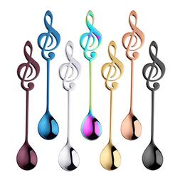 1pcs Musical Note Coffee Spoons Stainless Steel <font><b>Tea