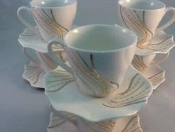2.5 oz Espresso coffee.12 pc Cup and Saucer Set Coffee Tea G