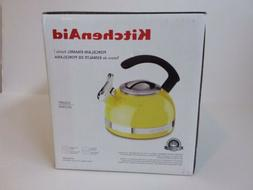 KitchenAid 2-Qt Steel Band Tea Kettle Whistle kten20cbis Cit