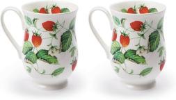 2 Roy Kirkham Fine Bone China Alpine Strawberry Eleanor Coff