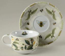 Cardew Design - 2 Flat Cups &  2 Saucer Set Tea Plant & Hone