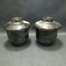 2 Japanese Sushi Tea Cup Set Chawanmushi Asian Japan Yuteki