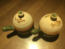 New Set of Japanese Stoneware Teacups with Lids