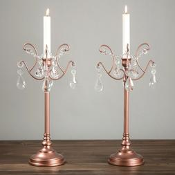 2-Piece Candlestick Candle Holder Set Candelabra Light Home