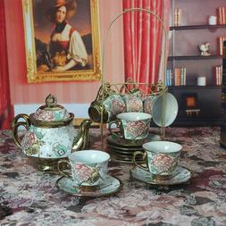 20 piece european ceramic tea set porcelain