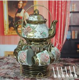 20 Piece European Titanium Vintage Gold Tea Set Collection