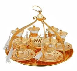 20 piece traditional turkish style tea serving