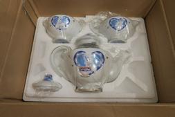 2003 Danbury Mint Pillsbury Doughboy Teapot Tea Set 5pc Porc
