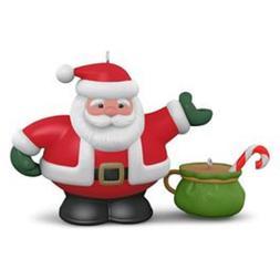 2016 hallmark ornament tea time porcelain santa