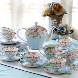 21 Pieces LOT 2 COLOR Vintage English Set Bone China Tea Ket