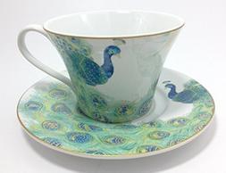 222 Fifth Lakshmi Peacock Cup and Saucer