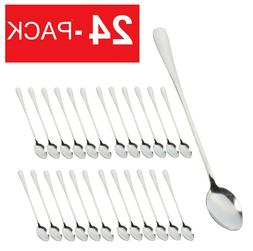 24-Pack Iced Tea Spoons Stainless Steel Long Handle Set of 2