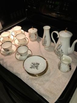 24 Piece Bone China Tea Set With Bud Vase By Jiesia