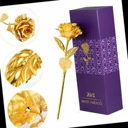24k Gold Foil Artificial Rose Everlasting Rose Best Gift for