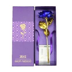 24K Gold Plated Rose Flower Gift Birthday Day Romantic Forev