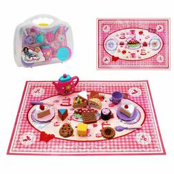 26pcs Tea Cup & Desert Role Play Pretend Party Play Set for