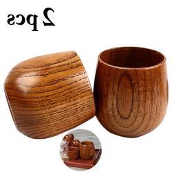 2pcs Fashion Simple Wood <font><b>Cup</b></font> <font><b>Se