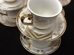 3 oz Espresso coffee.12 pc Cup and Saucer Set.Tea set Large