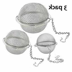 Lyxa SR 3 Pack Piece Set Stainless Steel Mesh Tea Ball Tea I