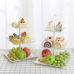 3 Tier/Set Cake Stand Afternoon Tea Wedding Plates Party Emb