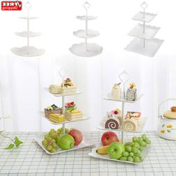 3 Tier/Set Round Display Cake Cupcake Stand Tea Wedding Food