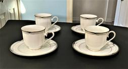 LENOX CHINA ERICA PATTERN TEA CUP AND SAUCER SET...MUST SE