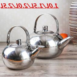 4 Size Stainless Steel Teapot Silver Coffee Strainer Kettle