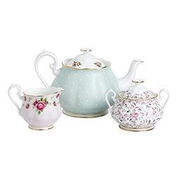 Royal Albert 40034975 Modern Vintage Collection Teapot, Crea